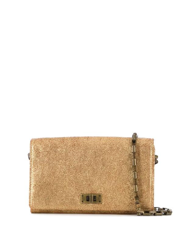 Officine Creative Metallic Clutch Bag In Gold