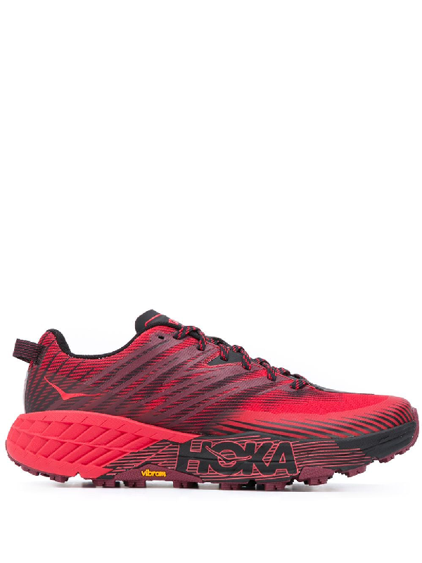 Hoka One One Speedgoat 4 Trail Running Sneakers In Red