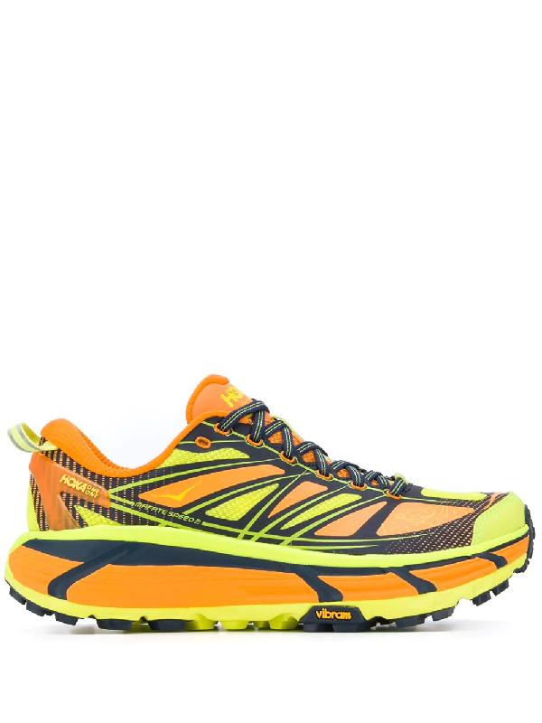 Hoka One One Mafate 2 Trail Running Sneakers In Orange