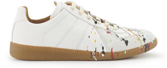 Maison Margiela Replica White Leather Sneakers