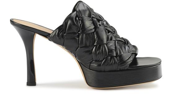 Bottega Veneta Women's Board High Heel Platform Slide Sandals In Black