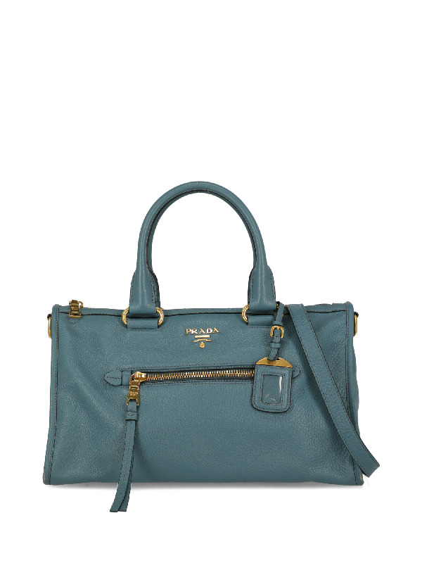Prada Tote Bag In Blue