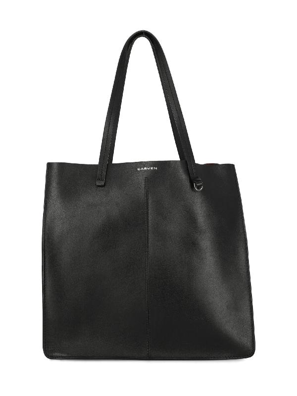 Carven Tote Bag In Black