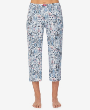 Ellen Tracy Women's Cropped Pajama Pant In Blue Paisley