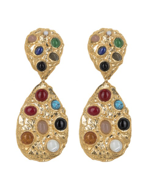 Christie Nicolaides Donatella Earrings Gold/multi