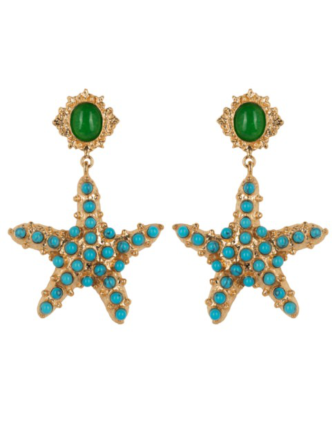 Christie Nicolaides Sofia Earrings Turquoise In Gold
