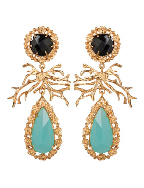 Christie Nicolaides Camile Earrings Mint In Gold