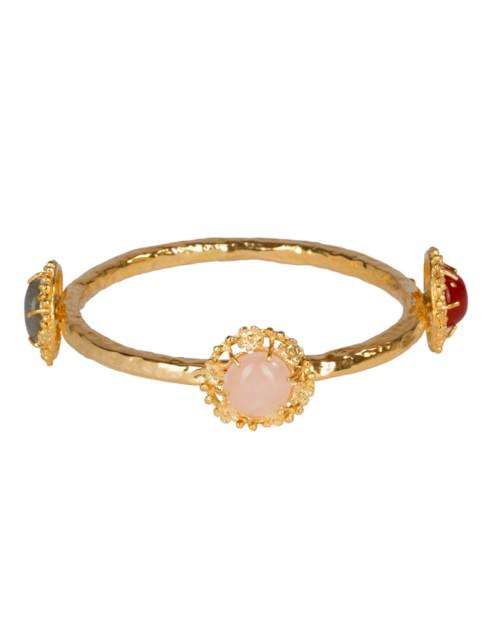 Christie Nicolaides Balbina Bangle Pink/multi In Gold