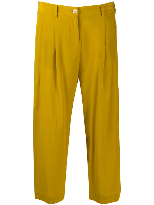 Jejia Cropped Trousers In Neutrals