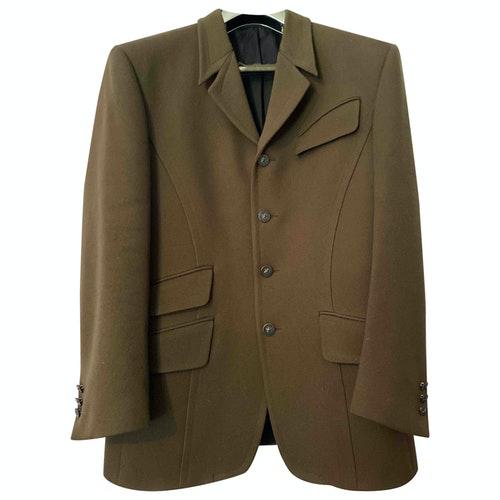 Mugler Khaki Wool Jacket