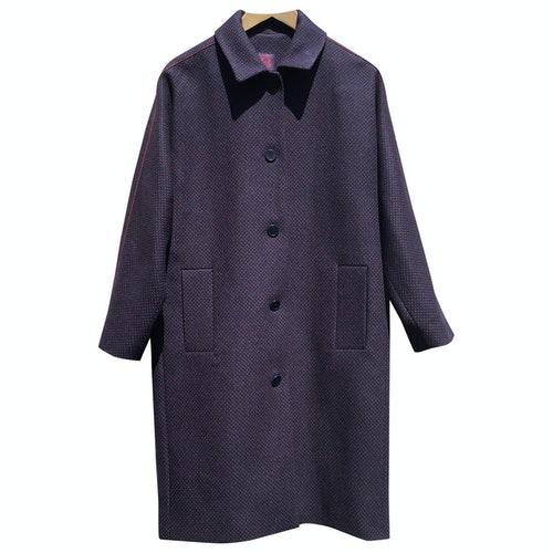 Bensimon Blue Wool Coat