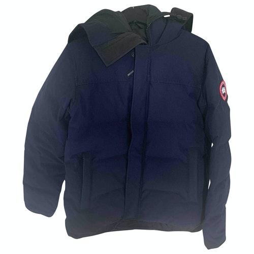 Canada Goose Navy Cotton Coat