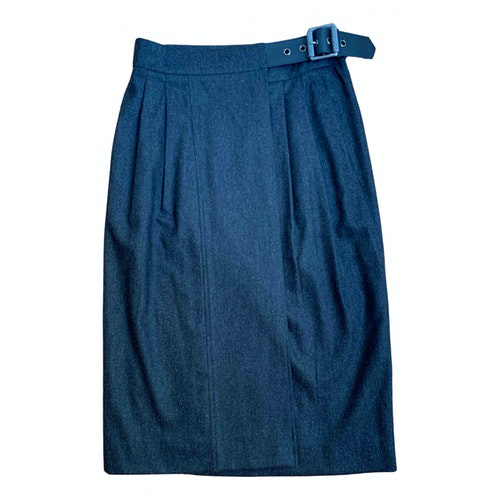 Belstaff Anthracite Wool Skirt