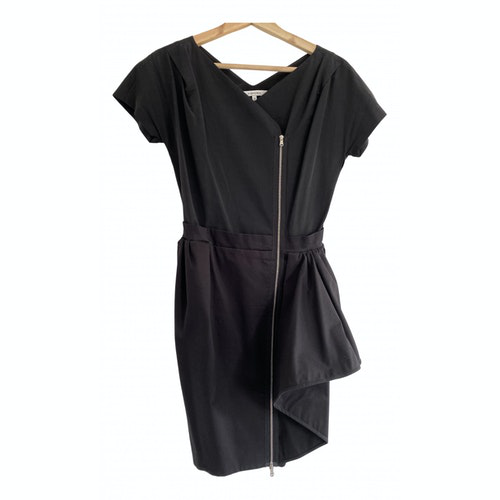 Carven Black Cotton - Elasthane Dress