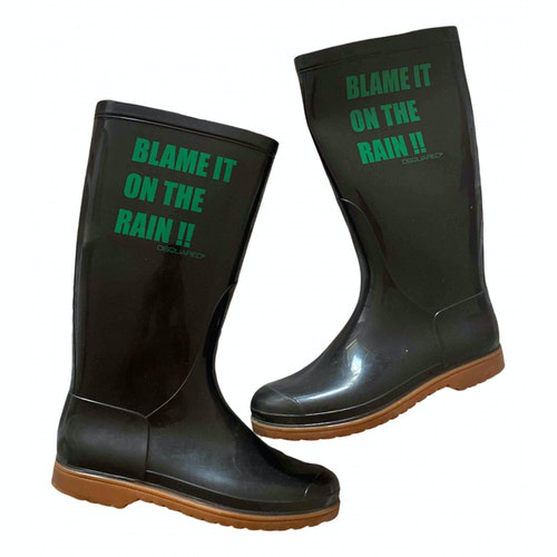 Dsquared2 Brown Rubber Boots