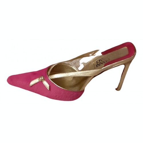 Versace Pink Pony-style Calfskin Sandals