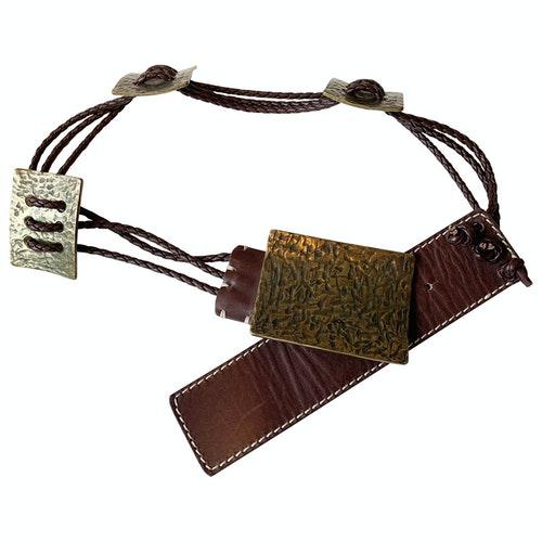 Wunderkind Brown Leather Belt