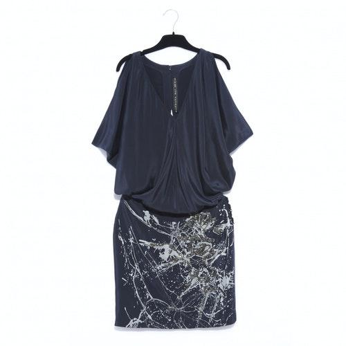 Barbara Bui Anthracite Silk Dress
