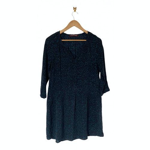 Comptoir Des Cotonniers Blue Silk Dress