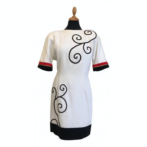 Pierre Balmain White Cotton Dress