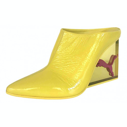 Fenty X Puma Yellow Patent Leather Heels