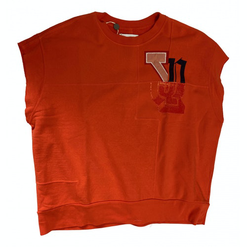 Facetasm Orange Cotton Knitwear & Sweatshirts