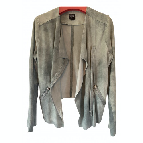 Swildens Green Leather Leather Jacket