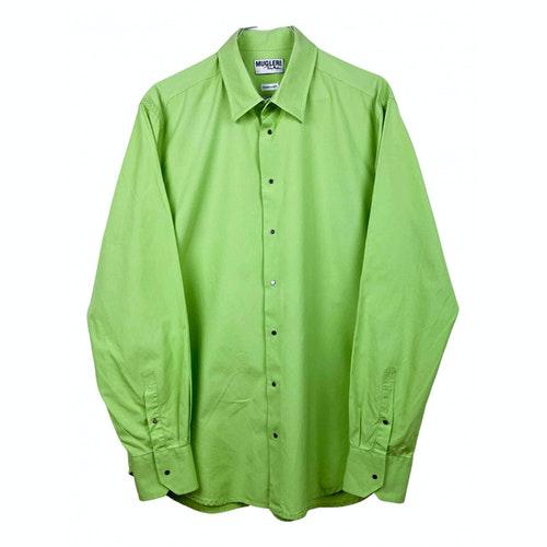 Mugler Green Cotton Shirts