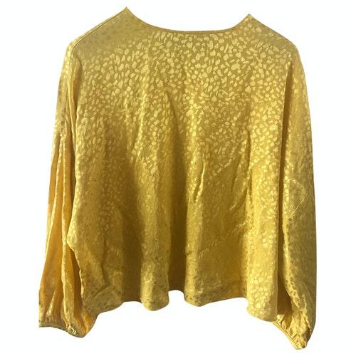 Roseanna Yellow Leather Jacket