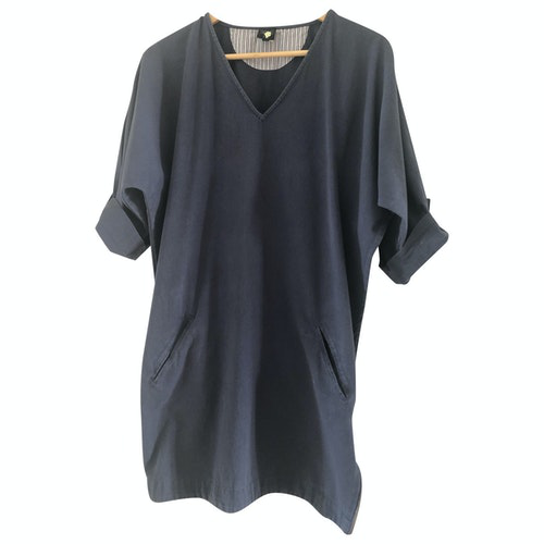 Swildens Blue Cotton Dress