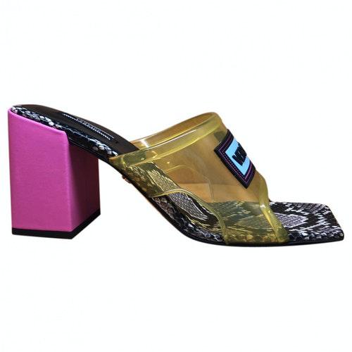 Versace Multicolour Leather Sandals