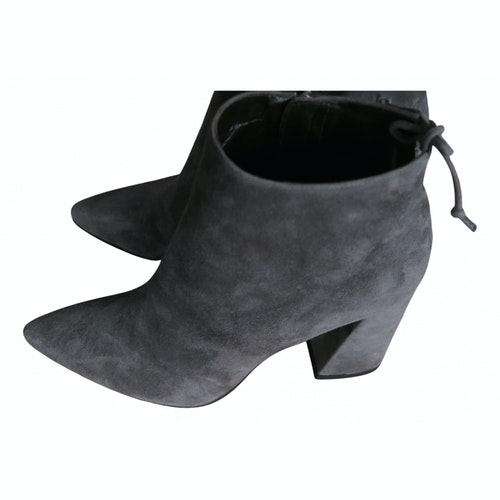 Stuart Weitzman Grey Suede Ankle Boots