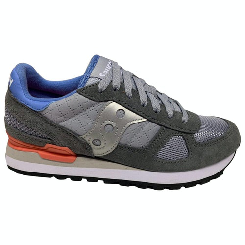 Saucony Grey Suede Trainers