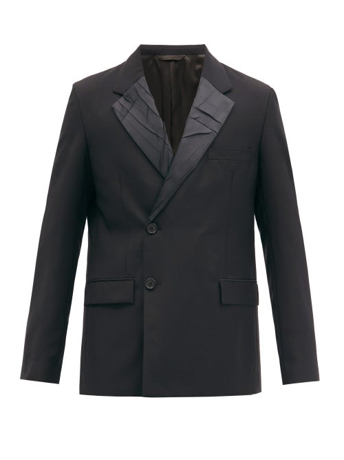 Acne Studios Double-breasted Wool And Mohair-blend Suit Jacket In Black