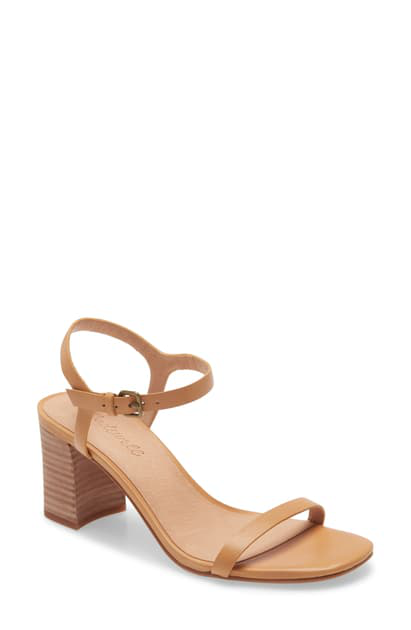 Madewell The Hollie Ankle Strap Sandal In Desert Camel