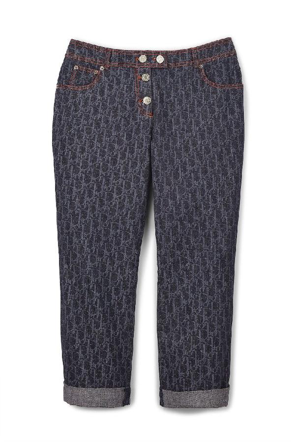 Dior Blue Denim Trotter Cropped Jeans