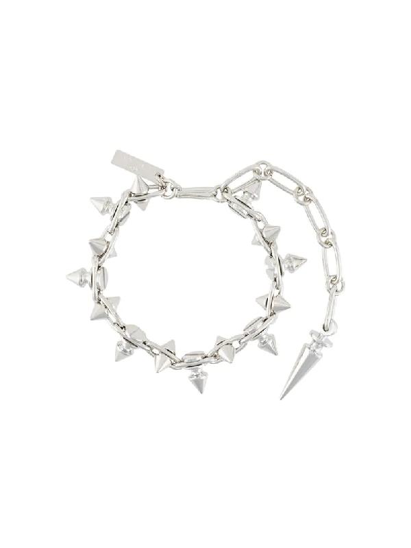 Junya Watanabe Armband Mit Spitzen Nieten In Metallic