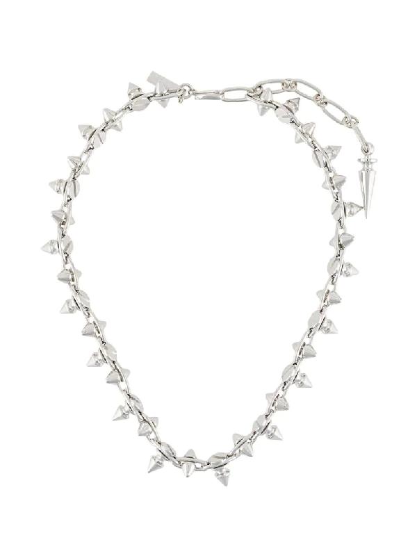 Junya Watanabe Halskette Mit Spitzen Nieten In Metallic