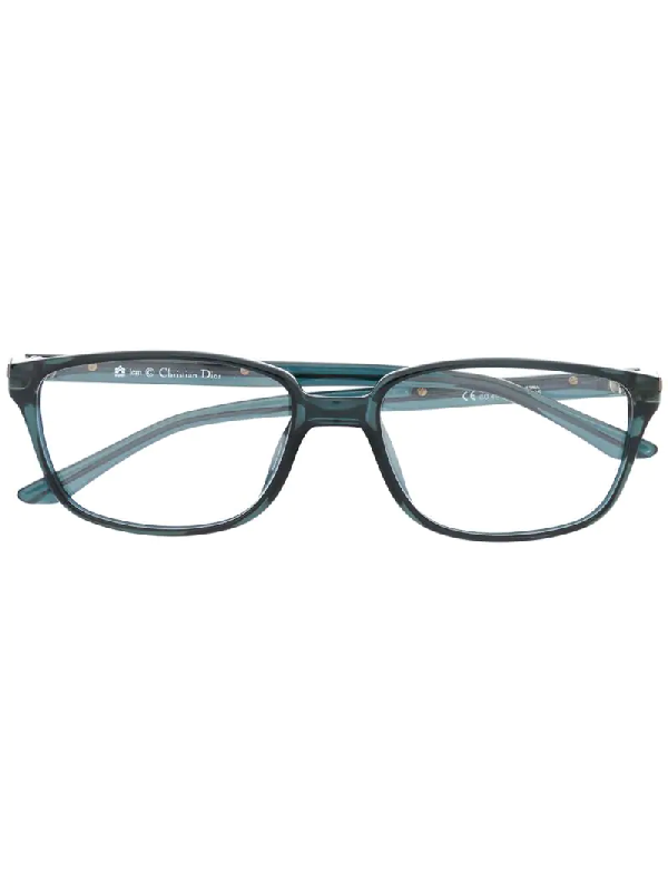Dior 1990s Pre-owned Square Glasses In Blue