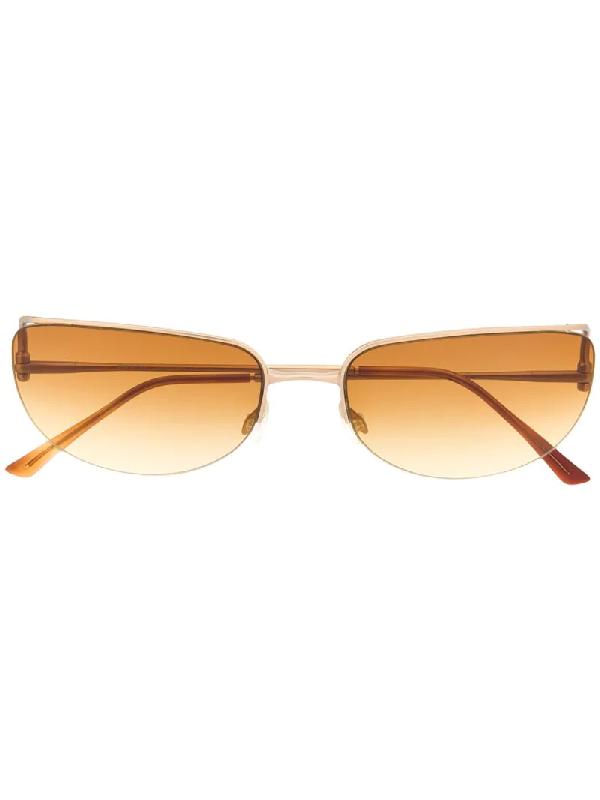 Prada 1990er Cat-eye-sonnenbrille Mit Farbverlauf In Gold