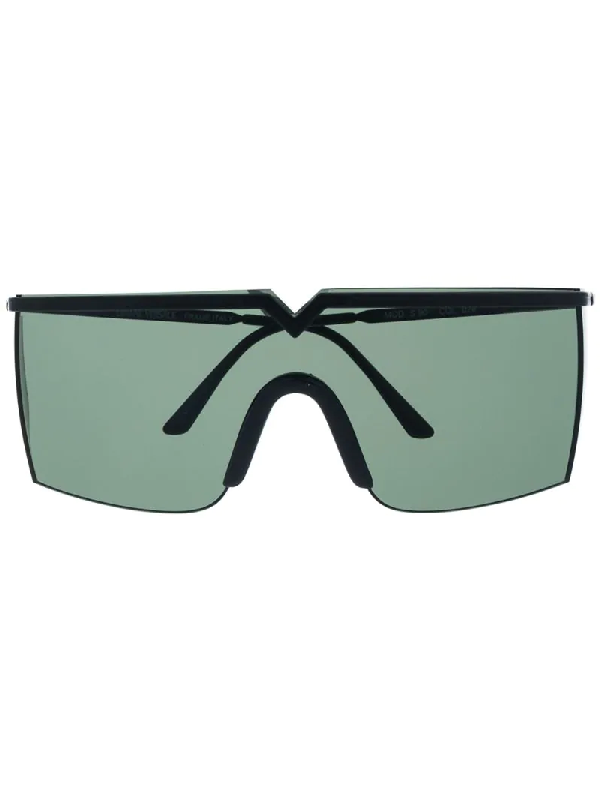 Versace 1990s Tinted Shield Sunglasses In Black
