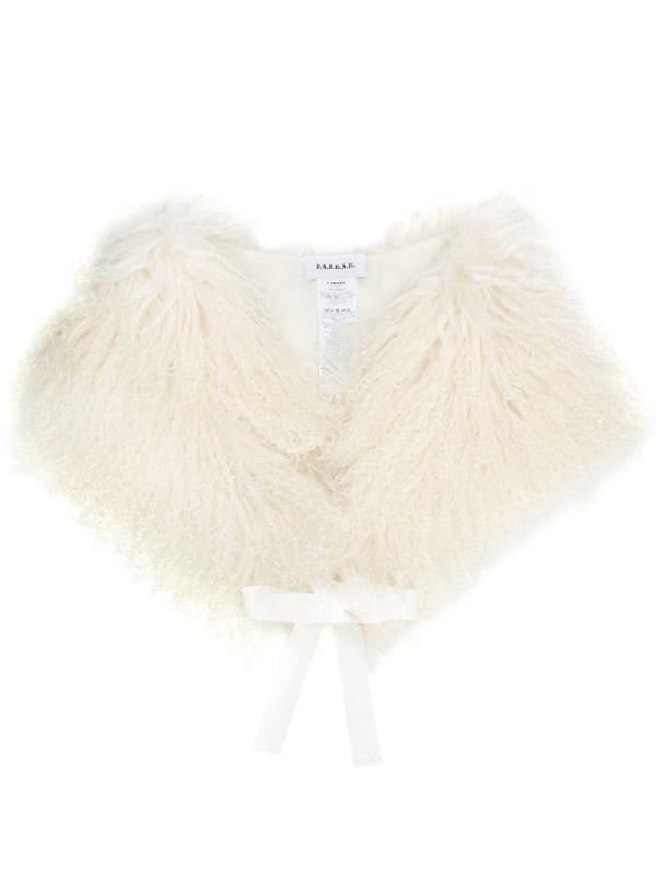 P.a.r.o.s.h. Lamb Fur Shawl In White