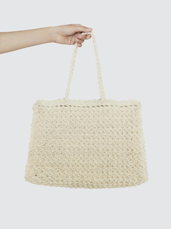 Faithfull The Brand Sullivan Crochet Bag In White
