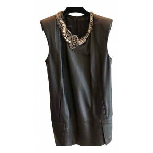 Barbara Bui Black Leather Dress