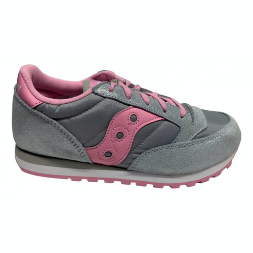Saucony Silver Leather Trainers