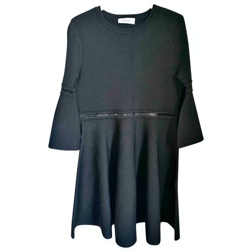 Carven Black Tweed Dress