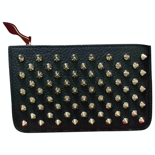 Christian Louboutin Black Leather Purses, Wallet & Cases