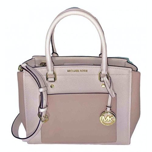 Michael Kors Pink Leather Handbag