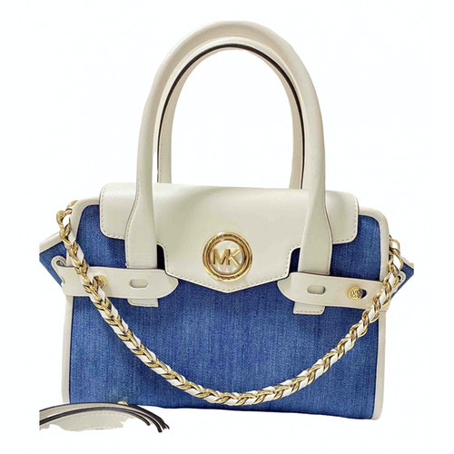 Michael Kors Blue Cotton Handbag
