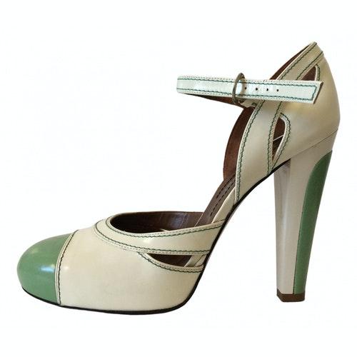 Barbara Bui White Patent Leather Heels